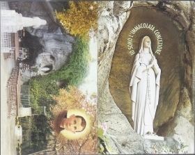 MADONNA DI LOURDES - BEATO CLAUDIO GRANZOTTO - SANTINO - AS013-028