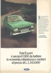 FORD ESCORT 1100 - ADVERSITING -