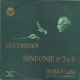 BEETHOVEN - SINFONIE N° 5, Op. 67 e 8 Op. 93 # TOSCANINI - N.B.C. SYMPHONY ORCH.