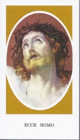 ECCE HOMO - SANTINO - HOLYCARD - AS015-062 - oratio in spanish