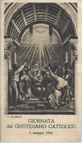 SPIRITO SANTO - GIORNATA DEL QUOTIDIANO CATTOLICO 5-5-1940 - SANTINO - AS013-039