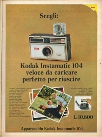 KODAK INSTAMATIC 104 - ADVERTISINIG