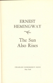 THE SUN ALSO RISES - ERNEST HEMINGWAY (ENGLISH TEXT)