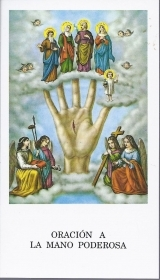 LA MANO PODEROSA - SANTINO HOLY CARD - AS015-280 - spanish text