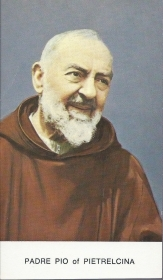PADRE PIO of PIETRALCINA - SANTINO - HOLY CARD (english text) - AS012-027