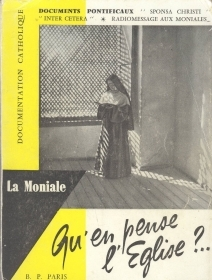 LA MONIALE. QU'EN PENSE L'EGLISE? - FRENXH TEXT