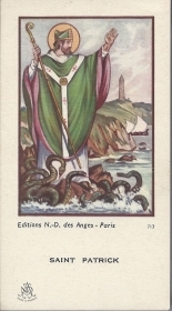 SAINT PATRICK - SANTINO  HOLY CARD - AS015-360 - Ed. N-D des Anges   Paris