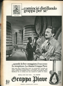 GRAPPA PIAVE COMINCIO' DISTILLANDO GRAPPA PER SE... - ADVERTISING