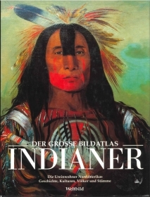 INDIANER  DER GROSSE BILDATLAS   GERMAN TEXT   AUTOGRAFO BUFFALO CHILD