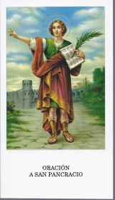 SAN PANCRACIO - SANTINO HOLY CARD - AS015-296 - spanish text