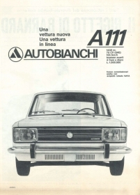 AUTOBIANCHI A111 - AUTO - ADVERSITING