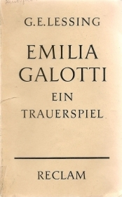 EMILIA GALLOTTI . G.E.E LESSING (GERMAN TEXT)