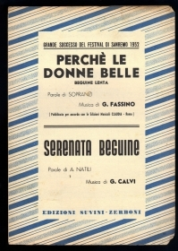 PERCHE' LE DONNE BELLE (G. Fassino) - SERENATA BEGUINE (G. Calvi) # SPARTITO