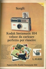 KODAK ISTAMATIC 104 - ADVERTISING