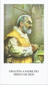 ORACION A PADRE PIO SIERVO DE DIOS - SANTINO - HOLY CARD - spanish text - AS012-