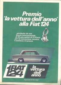 FIAT 124 AUTO DELL'ANNO - ADVERTISING