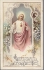 COEUR SACRE\' DE JESUS - SANTINO HOLY CARD AS015-397  Ed. Buasse J. - french text