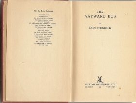 THE WAYWARD BUS - JOHN STEINBECK  Heinemann 1^ Edizione 1947  english text